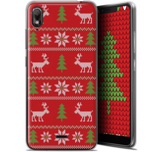 "Carcasa Gel Extra Fina Wiko View 2 GO (5.93"") Noël 2017 Couture Rouge"