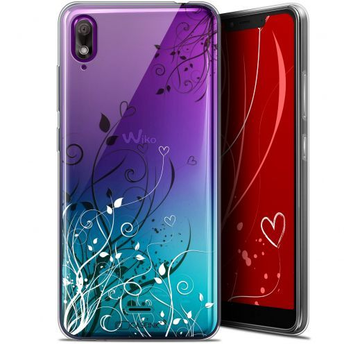 "Carcasa Gel Extra Fina Wiko View 2 GO (5.93"") Love Hearts Flowers"