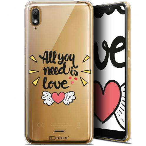 "Carcasa Gel Extra Fina Wiko View 2 GO (5.93"") Love All U Need Is"