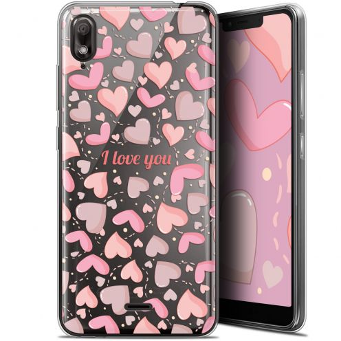 "Carcasa Gel Extra Fina Wiko View 2 GO (5.93"") Love I Love You"