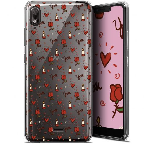 "Carcasa Gel Extra Fina Wiko View 2 GO (5.93"") Love Bougies et Roses"