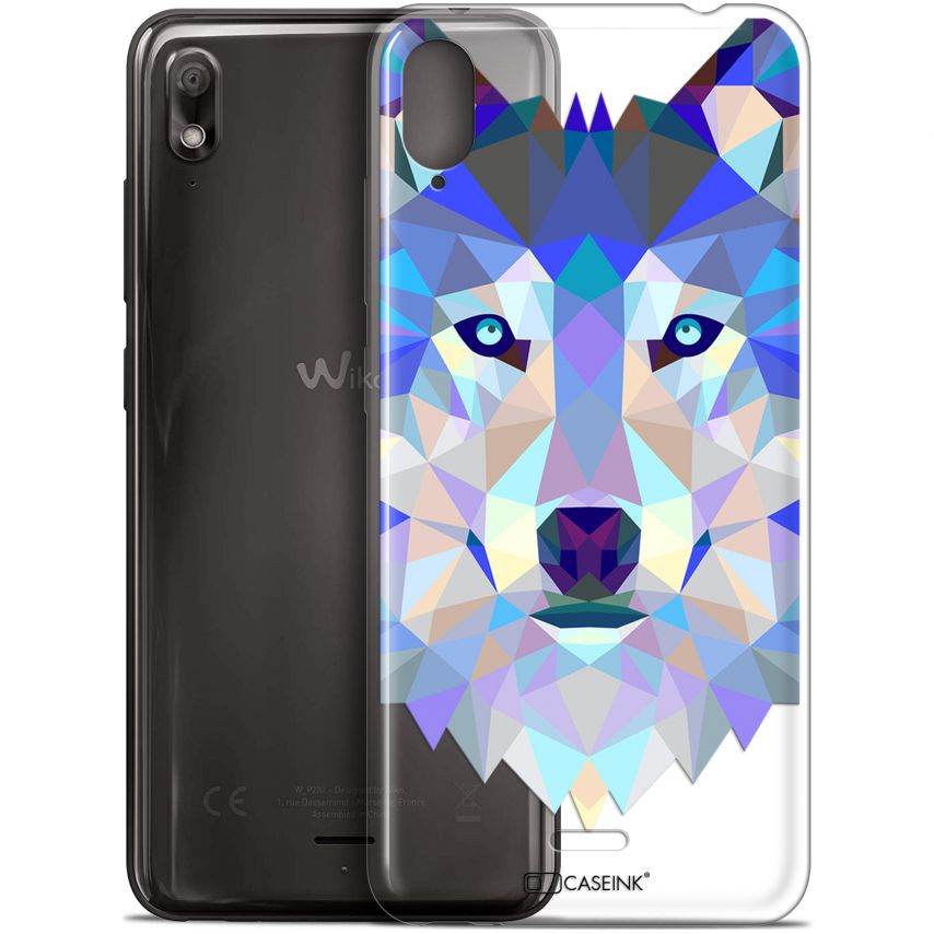"Carcasa Gel Extra Fina Wiko View 2 GO (5.93"") Polygon Animals Lobo"