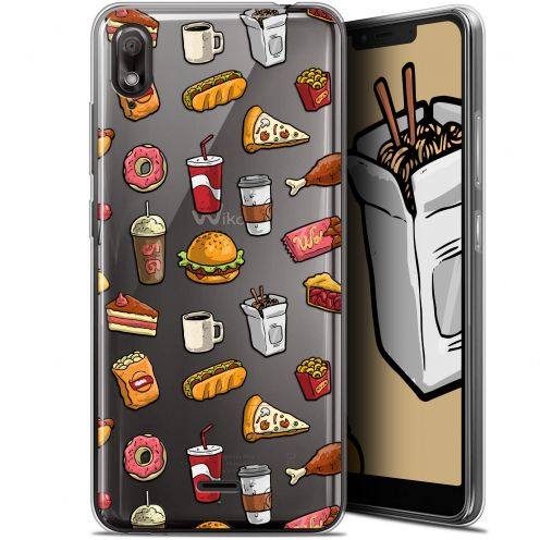 """Carcasa Gel Extra Fina Wiko View 2 GO (5.93"""") Foodie Fast Food"""