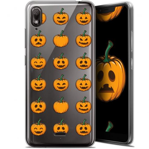 "Carcasa Gel Extra Fina Wiko View 2 GO (5.93"") Halloween Smiley Citrouille"