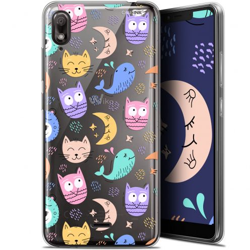 "Carcasa Gel Extra Fina Wiko View 2 GO (5.93"") Design Chat Hibou"