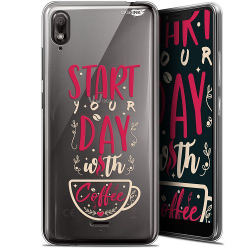 "Carcasa Gel Extra Fina Wiko View 2 GO (5.93"") Design Start With Coffee"