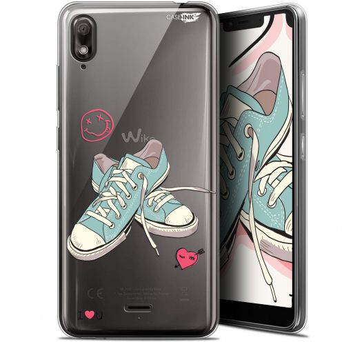 "Carcasa Gel Extra Fina Wiko View 2 GO (5.93"") Design Mes Sneakers d'Amour"