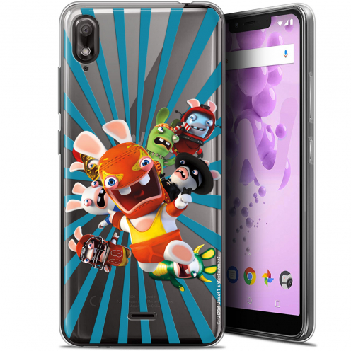 "Carcasa Gel Wiko View 2 GO (5.93"") Lapins Crétins™ Super Heros"