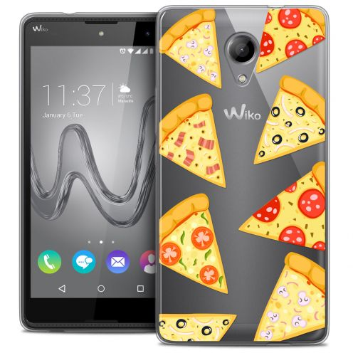 Carcasa Crystal Gel Extra Fina Wiko Robby Foodie Pizza