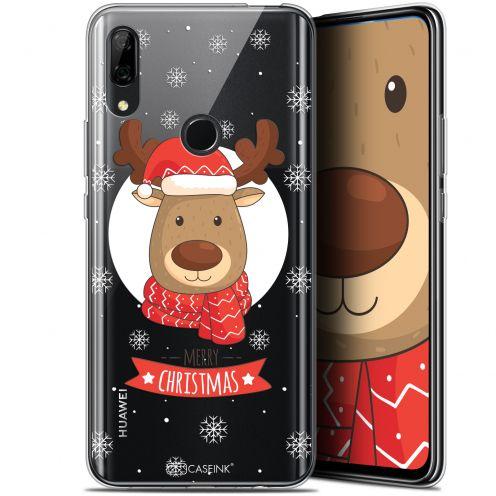 """Carcasa Gel Extra Fina Huawei P Smart Z (6.6"""") Noël 2017 Cerf à Echarpe"""