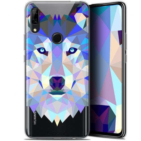 "Carcasa Gel Extra Fina Huawei P Smart Z (6.6"") Polygon Animals Lobo"