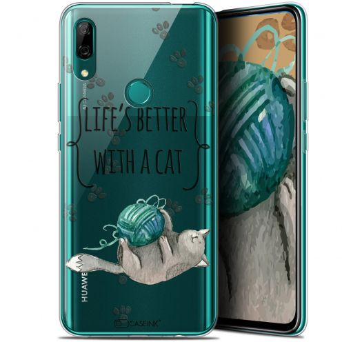 """Carcasa Gel Extra Fina Huawei P Smart Z (6.6"""") Quote Life's Better With a Cat"""
