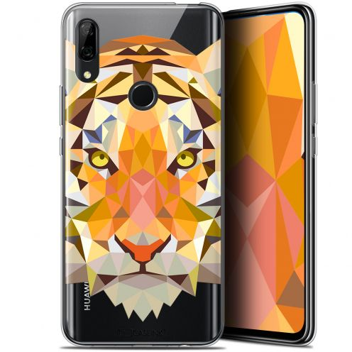 "Carcasa Gel Extra Fina Huawei P Smart Z (6.6"") Polygon Animals Tigre"