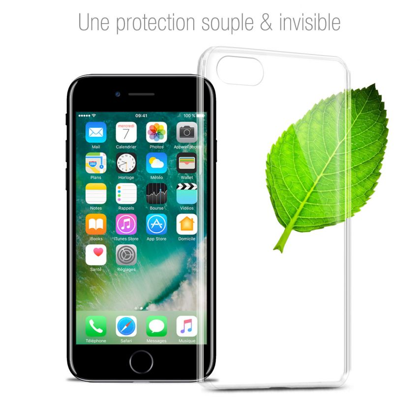 "Carcasa Extra Fina 1 mm Flexible Crystal Clear para Apple iPhone 7 (4.7"")"