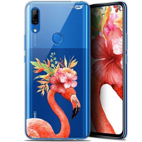 "Carcasa Gel Extra Fina Huawei P Smart Z (6.6"") Design Flamant Rose Fleuri"