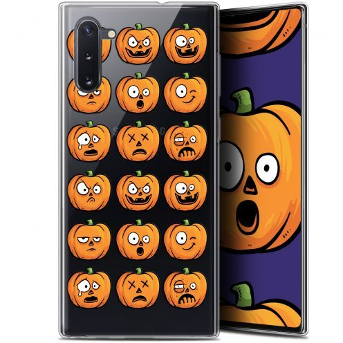 "Carcasa Gel Extra Fina Samsung Galaxy Note 10 (6.3"") Halloween Cartoon Citrouille"