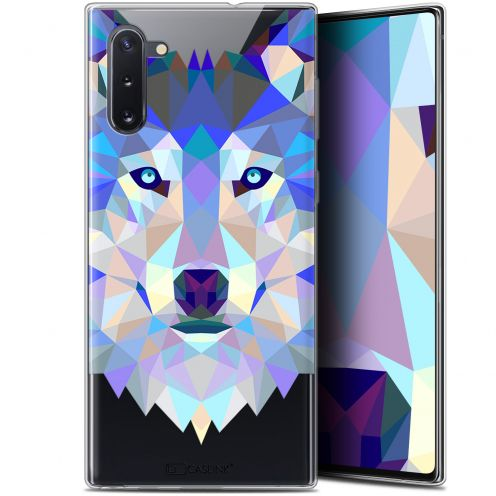 "Carcasa Gel Extra Fina Samsung Galaxy Note 10 (6.3"") Polygon Animals Lobo"