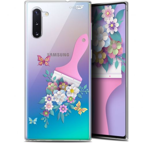 "Carcasa Gel Extra Fina Samsung Galaxy Note 10 (6.3"") Design Pinceau à Fleurs"