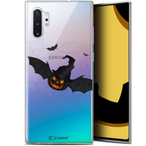 "Carcasa Gel Extra Fina Samsung Galaxy Note 10+ / Plus (6.8"") Halloween Chauve Citrouille"