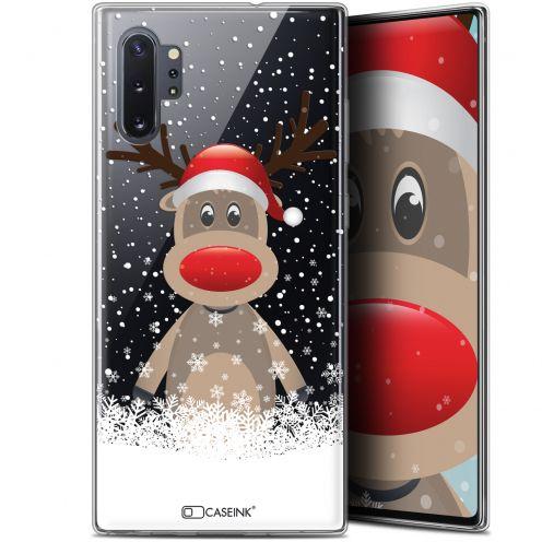 """Carcasa Gel Extra Fina Samsung Galaxy Note 10+ / Plus (6.8"""") Noël 2017 Cerf au Bonnet"""