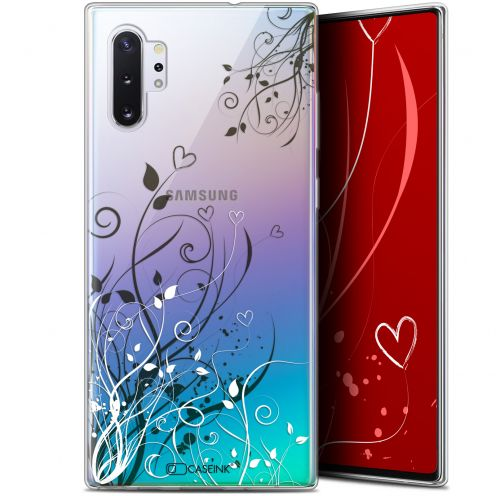 "Carcasa Gel Extra Fina Samsung Galaxy Note 10+ / Plus (6.8"") Love Hearts Flowers"