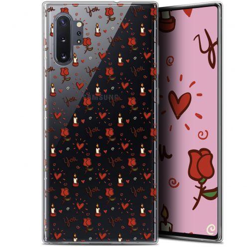 "Carcasa Gel Extra Fina Samsung Galaxy Note 10+ / Plus (6.8"") Love Bougies et Roses"