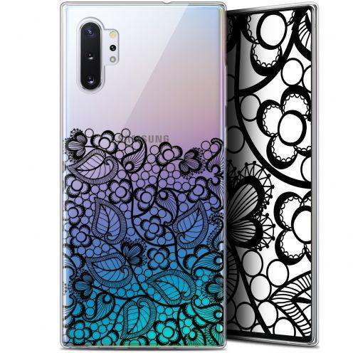 "Carcasa Gel Extra Fina Samsung Galaxy Note 10+ / Plus (6.8"") Spring Bas dentelle Noir"