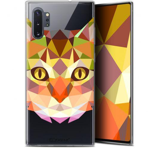 "Carcasa Gel Extra Fina Samsung Galaxy Note 10+ / Plus (6.8"") Polygon Animals Gato"