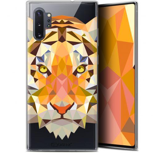 "Carcasa Gel Extra Fina Samsung Galaxy Note 10+ / Plus (6.8"") Polygon Animals Tigre"