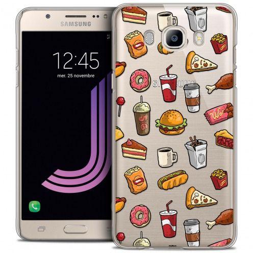 Carcasa Crystal Extra Fina Galaxy J7 2016 (J710) Foodie Fast Food