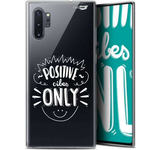 "Carcasa Gel Extra Fina Samsung Galaxy Note 10+ / Plus (6.8"") Design Positive Vibes Only"