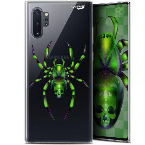 "Carcasa Gel Extra Fina Samsung Galaxy Note 10+ / Plus (6.8"") Design Arraignée Verte"