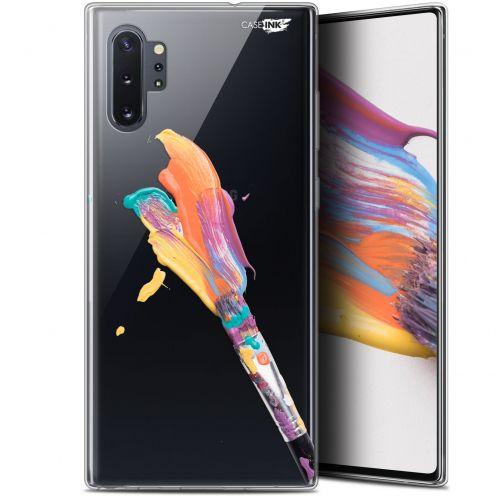 """Carcasa Gel Extra Fina Samsung Galaxy Note 10+ / Plus (6.8"""") Design Pinceau de Peinture"""