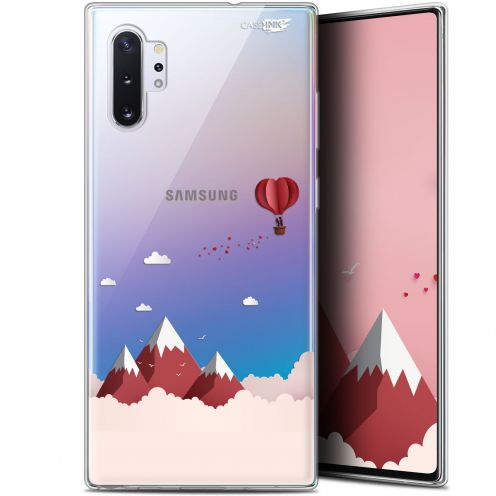 "Carcasa Gel Extra Fina Samsung Galaxy Note 10+ / Plus (6.8"") Design Montagne En Montgolfière"