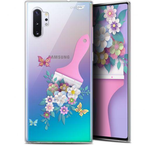 "Carcasa Gel Extra Fina Samsung Galaxy Note 10+ / Plus (6.8"") Design Pinceau à Fleurs"