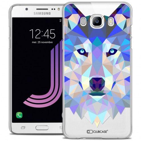 Carcasa Crystal Extra Fina Galaxy J7 2016 (J710) Polygon Animals Lobo