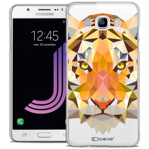 Carcasa Crystal Extra Fina Galaxy J7 2016 (J710) Polygon Animals Tigre