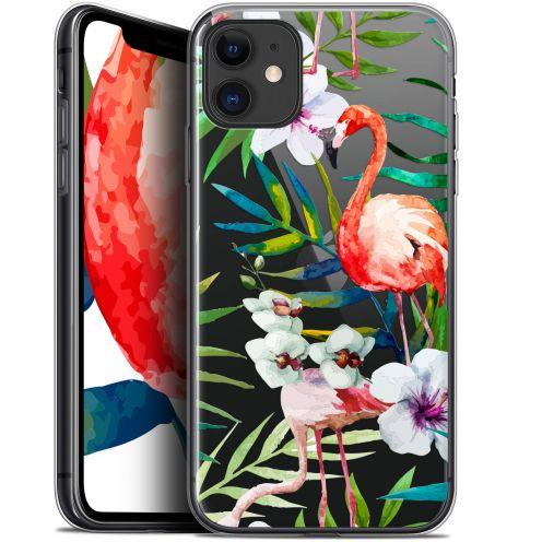 "Carcasa Gel Extra Fina Apple iPhone 11 (6.1"") Watercolor Tropical Flamingo"