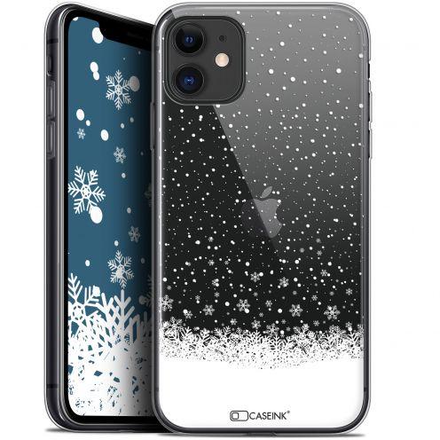 "Carcasa Gel Extra Fina Apple iPhone 11 (6.1"") Noël 2017 Flocons de Neige"