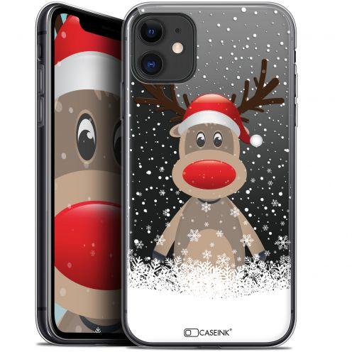 "Carcasa Gel Extra Fina Apple iPhone 11 (6.1"") Noël 2017 Cerf au Bonnet"