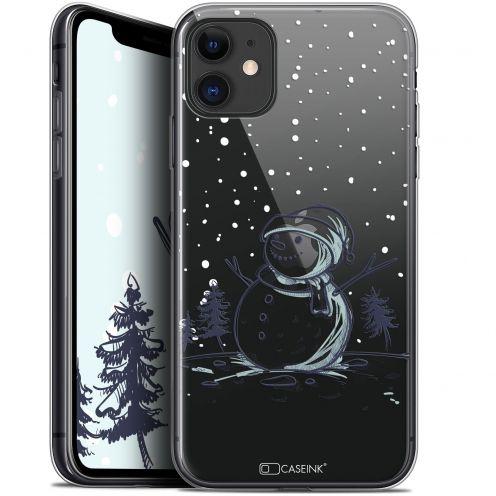 "Carcasa Gel Extra Fina Apple iPhone 11 (6.1"") Noël 2017 Bonhomme de Neige"