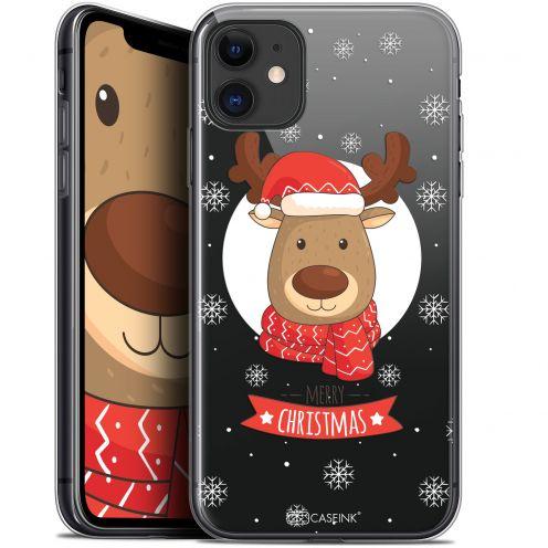 """Carcasa Gel Extra Fina Apple iPhone 11 (6.1"""") Noël 2017 Cerf à Echarpe"""