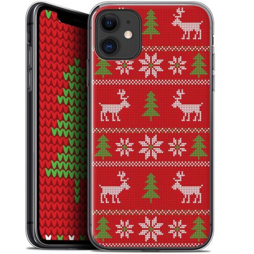 """Carcasa Gel Extra Fina Apple iPhone 11 (6.1"""") Noël 2017 Couture Rouge"""