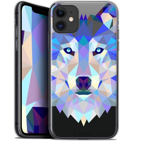 "Carcasa Gel Extra Fina Apple iPhone 11 (6.1"") Polygon Animals Lobo"