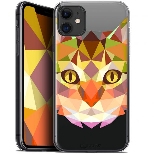 "Carcasa Gel Extra Fina Apple iPhone 11 (6.1"") Polygon Animals Gato"