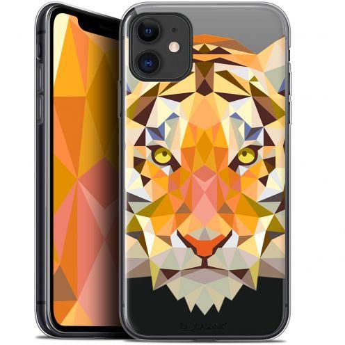 "Carcasa Gel Extra Fina Apple iPhone 11 (6.1"") Polygon Animals Tigre"