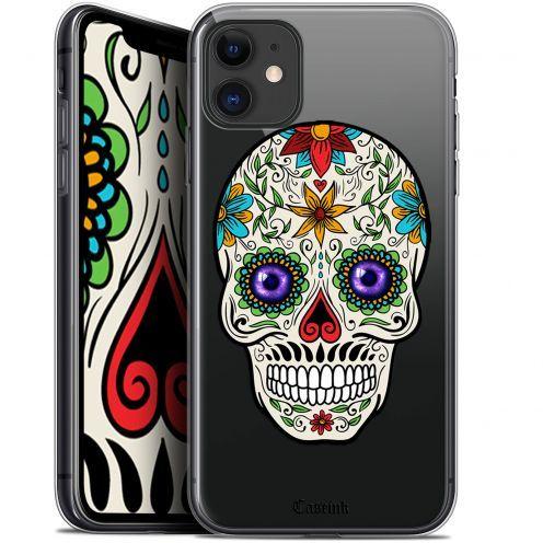 "Carcasa Gel Extra Fina Apple iPhone 11 (6.1"") Skull Maria's Flower"