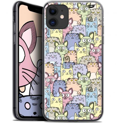 "Carcasa Gel Extra Fina Apple iPhone 11 (6.1"") Design Foule de Chats"
