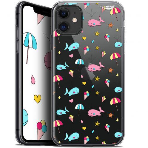 "Carcasa Gel Extra Fina Apple iPhone 11 (6.1"") Design Baleine à la Plage"
