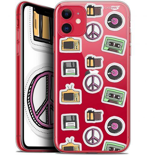 "Carcasa Gel Extra Fina Apple iPhone 11 (6.1"") Design Vintage Stickers"